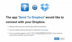 send dropbox