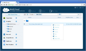 Interface multcloud