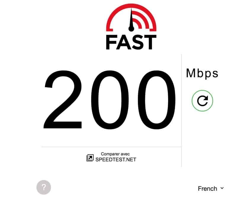test vitesse connexion