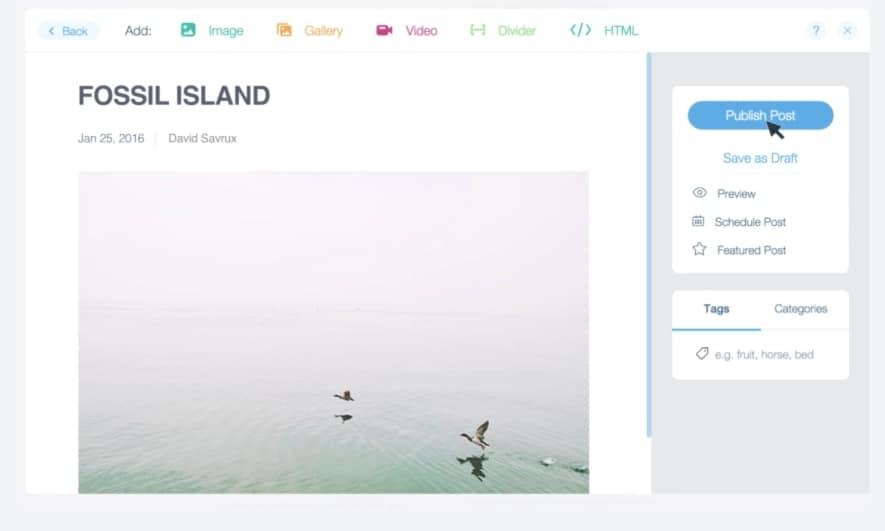 Créer un blog avec wix
